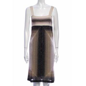 M missoni shift metallic dress small